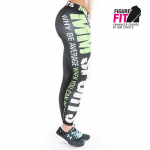 MM Hardcore Tights Wmn, Black/Bright Green