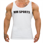 MM Sports Tank Men, White