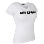 MM Sports V-Tee, Hvit