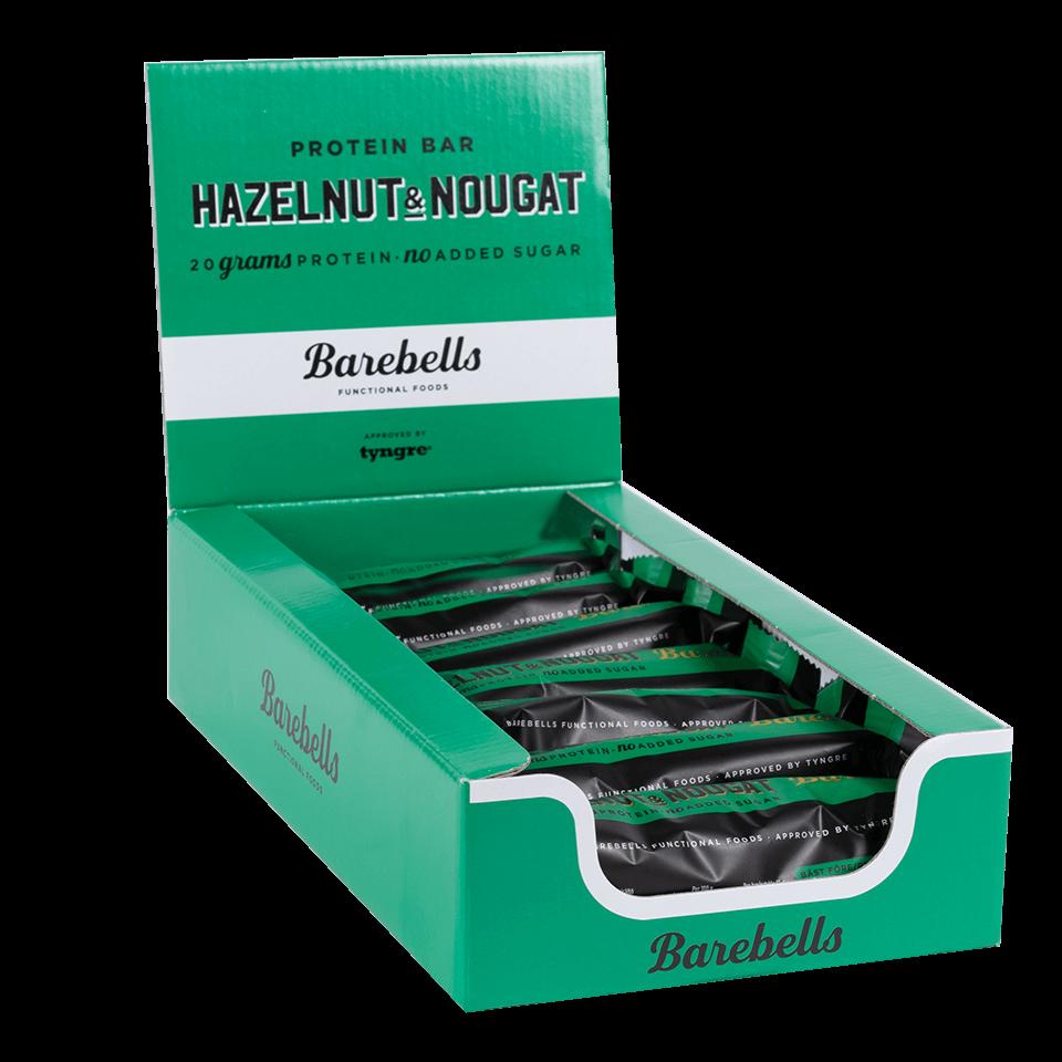 Bilde av Barebells Protein Bar - 12st Hel Låda 12 St Hazelnut & Nougat