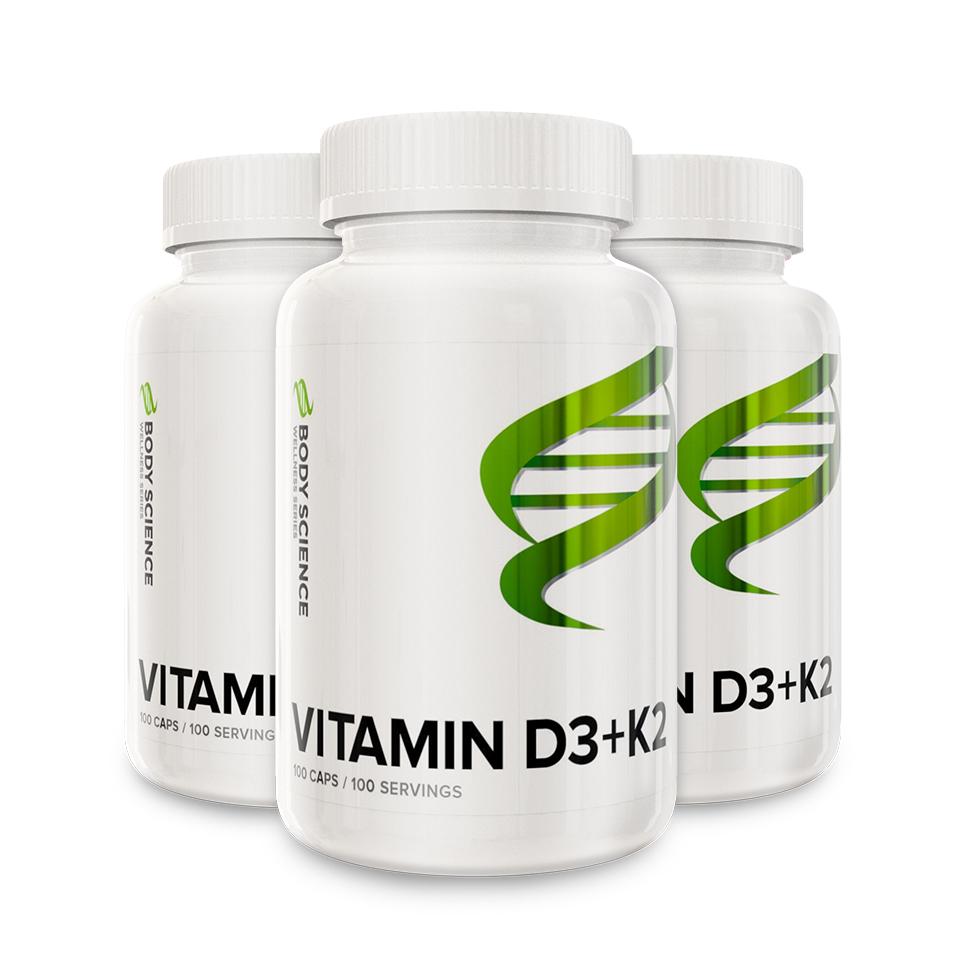 Vitamin D3+K2 Storpack 300 kapsler