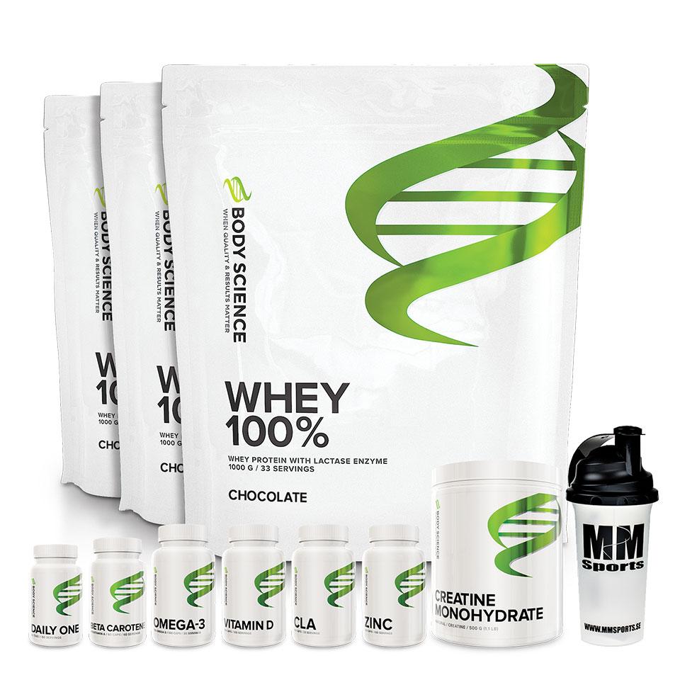 3kg Whey 100% + bonusprodukt
