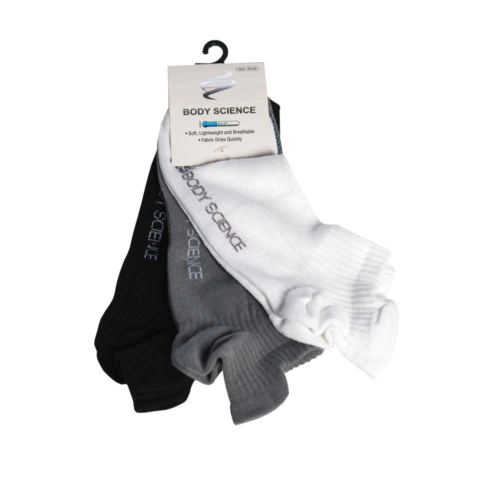 Performance Socks 3-P, White/Grey/Black