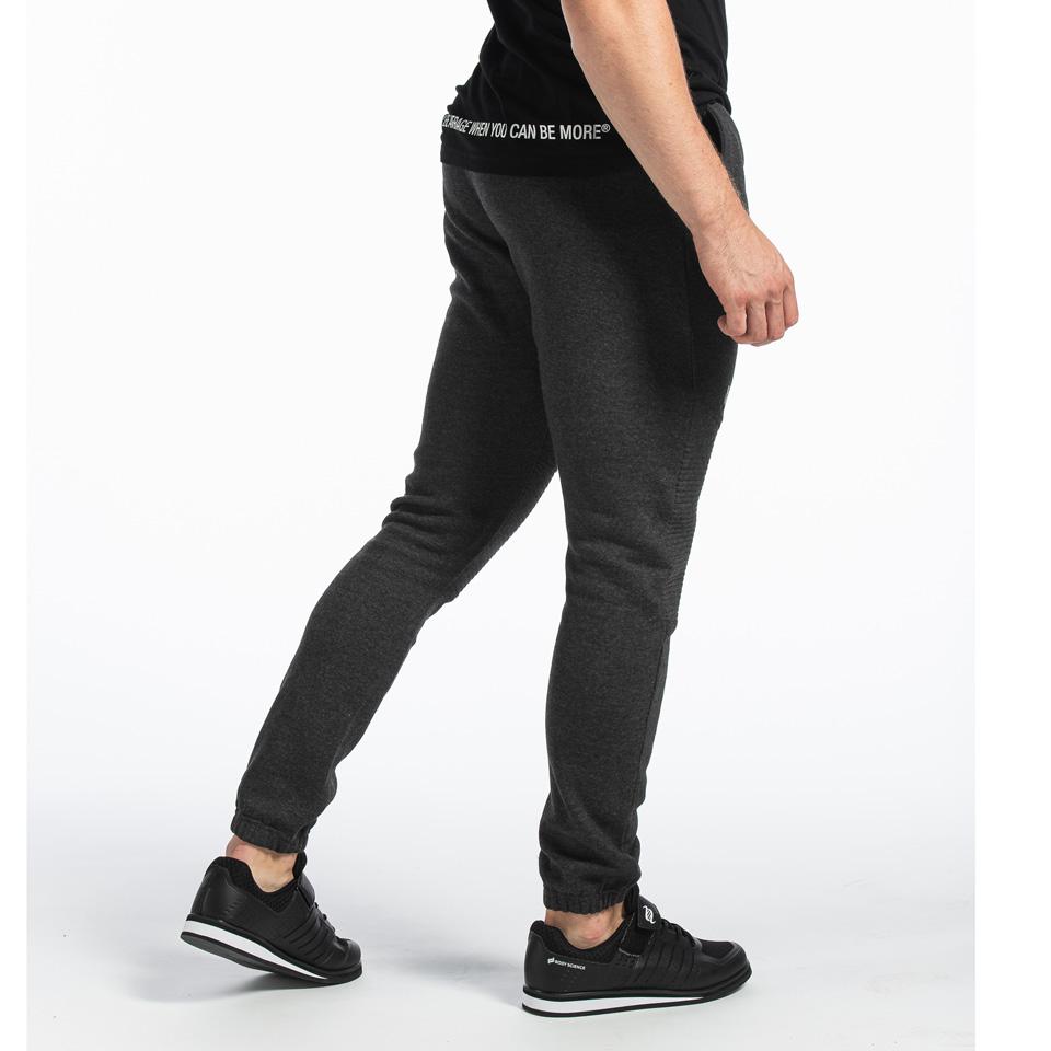Basic Pant Christian, Dark Grey Melange
