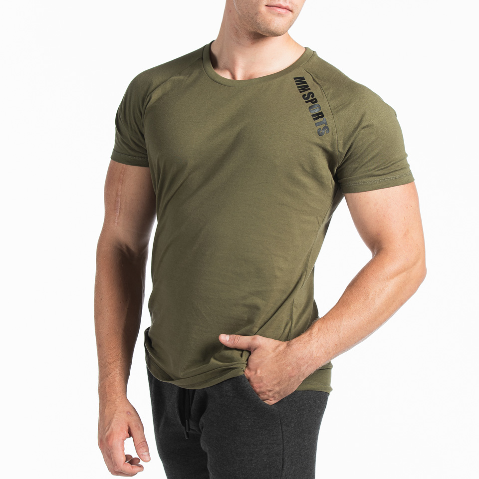 Basic Raglan Tee Christian, Army Green