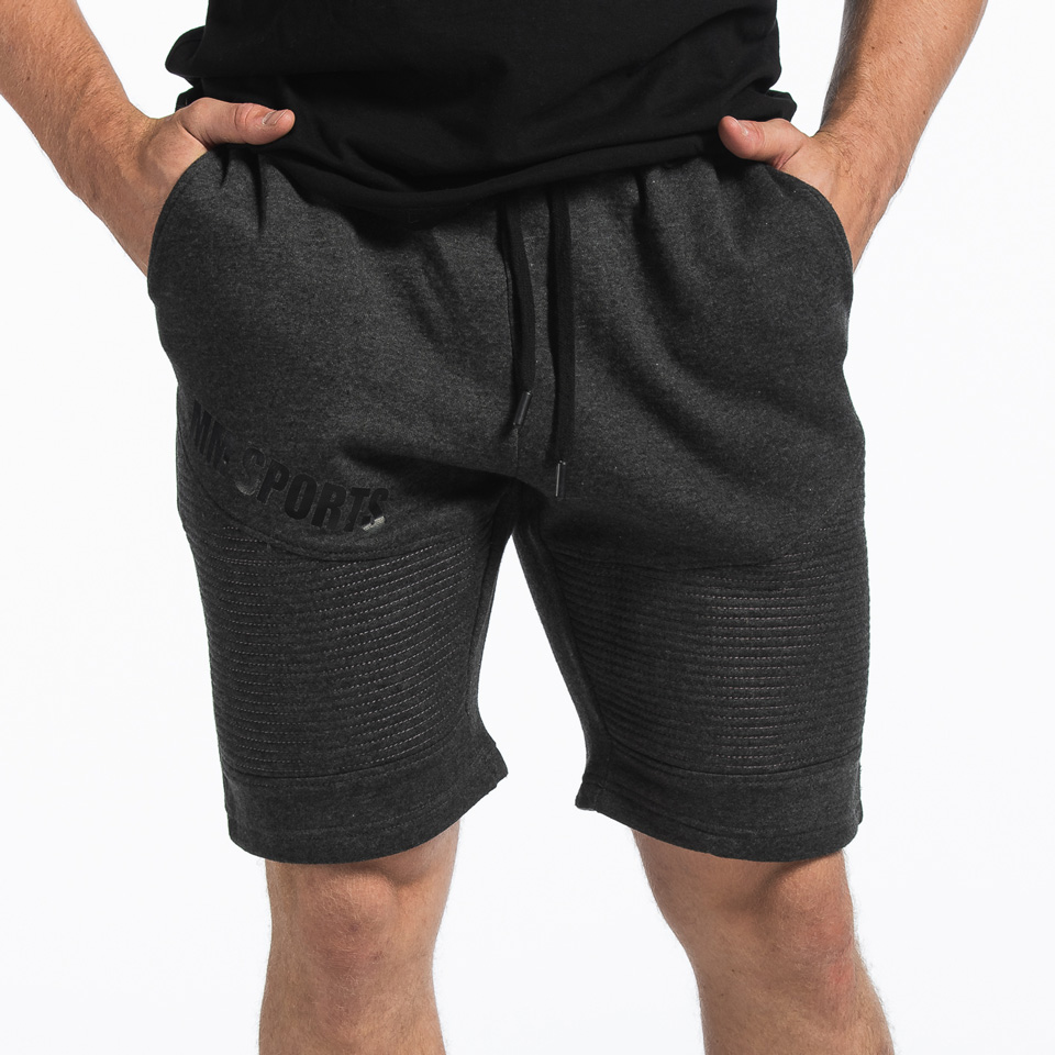 Basic Shorts Christian, Dark Grey Melange
