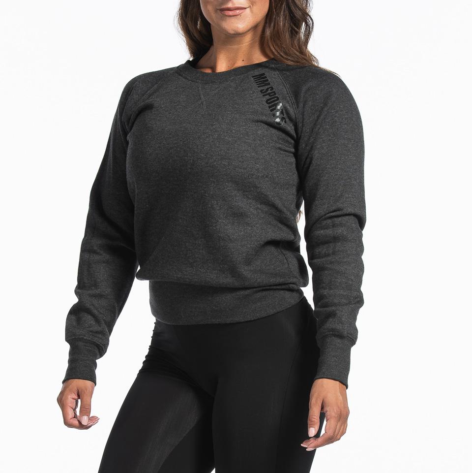 Basic Sweater Christie, Dark Grey Melange