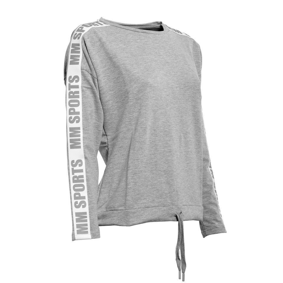 Logo Sweater Ava, Greymelange