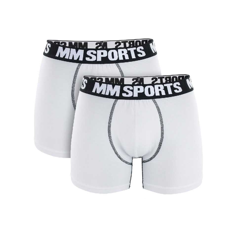 2 stk MM Sports Boxer Shorts , White