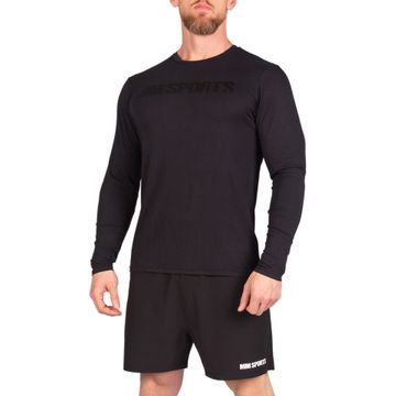 Long Sleeve Gym Tee Ed, Black