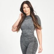 Seamless T-shirt Carol, Grey Melange