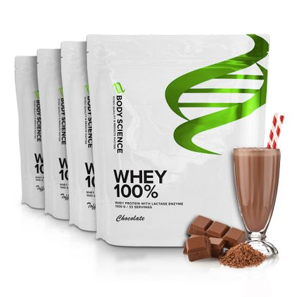 4 st Body Science Whey 100%