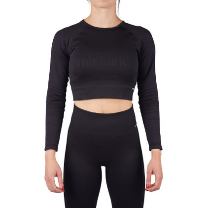 Seamless Lux Ribbed Cropped L/S Top