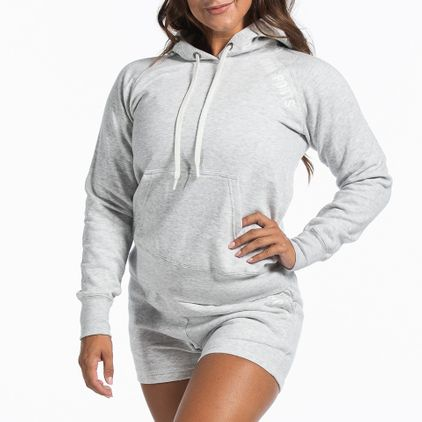 Basic Hoodie Christie, Light Grey Melange