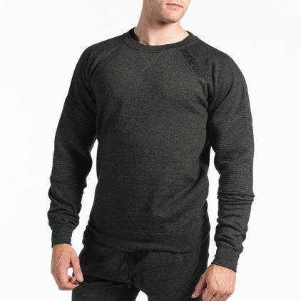 Basic Sweater Christian, Dark Grey Melange