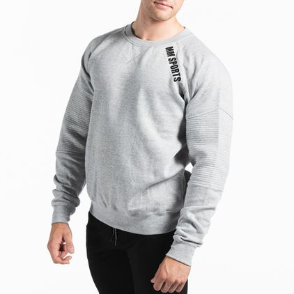 Basic Sweater Christian, Grey Melange