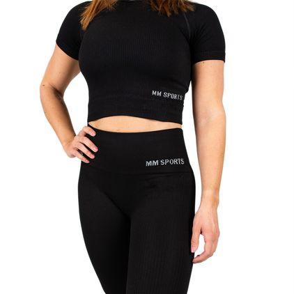 Seamless Cropped T-Shirt, Black