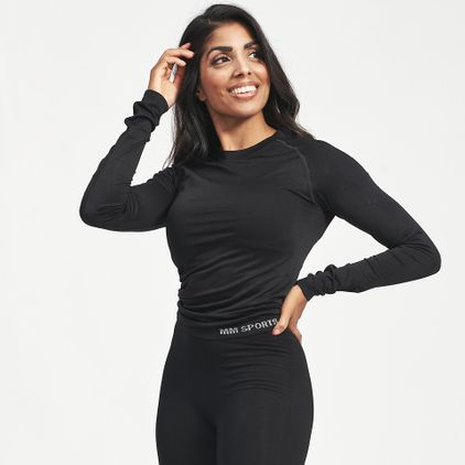 Seamless L/S T-shirt Carol, Black