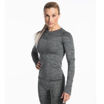 Seamless L/S T-shirt Carol, Grey Melange