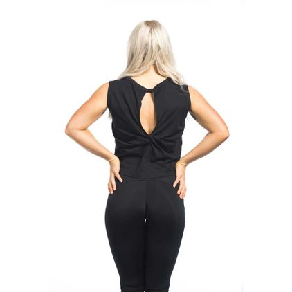 Twist Back Top Aria, Black